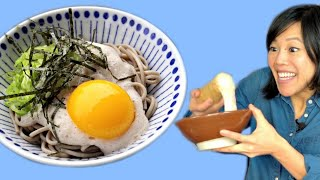 Nagaimo (Slimy Yam) & Raw Egg Japanese Noodles | Tororo Soba Recipe Test