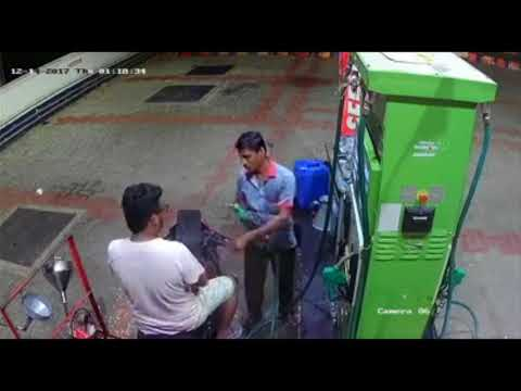 Viral CCTV footage | Man escapes from pump without paying money
