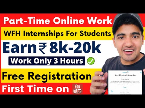 Part-Time Work For Students | Earn Money Online | Work 3 Hours | Part-time Pocket Money Internships