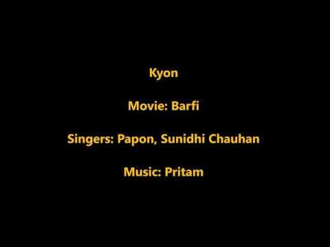 Kyon na hum tum (Baawre) Karaoke with lyrics