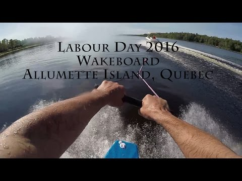 GoPro Hero 4 Mouth Mount Wakeboard Beginner, Allumette Island, Quebec