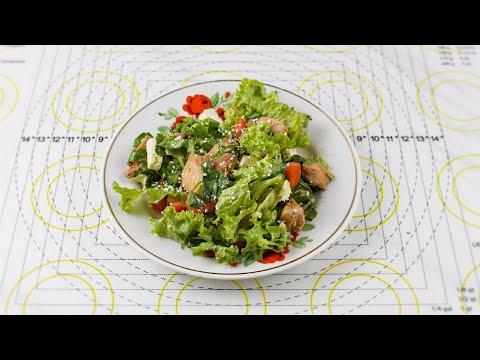 Обалденно вкусный салат из простых продуктов! Как в ресторане!