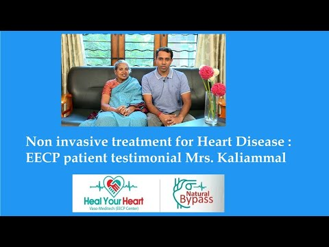 non surgical eecp treatment patient testimonial mrs kaliammal healyourheart eecp treatment