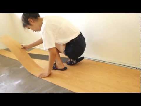 DIY ติดตั้งพื้นไวนิลรุ่นทากาว เดอะฮอริซอน (Install Vinyl Wood Tiles in Glue by THE HORIZON)