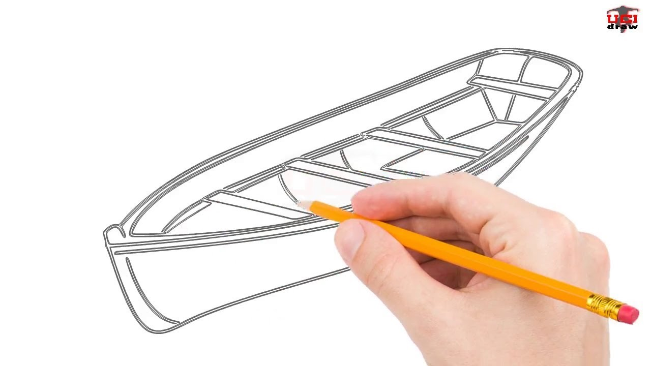 How To Draw A Boat Step By Step Easy For Beginners Kids Simple Boats Drawing Tutorial Youtube
