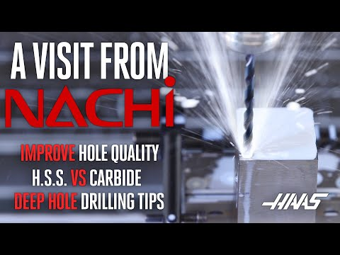 Discussing Drilling - Nachi Visits Haas Automation