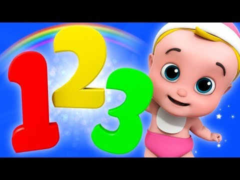 One Two Three Numbers Song  Counting Numbers 123  Cartoon s  Junior Squad