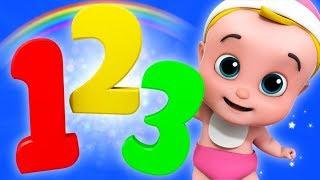 Bir, İki, Üç Numara Şarkı | Sayma Junior Ekibi Tarafından 123 | Karikatür Videolar Numaraları