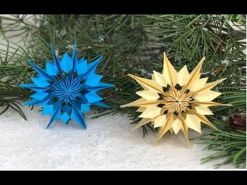 Decorazioni Natalizie Fai Da Te Stelle Di Carta.Stella Di Natale Fai Da Te Stella 3d In Carta 3d Paper Stars Christmas Youtube