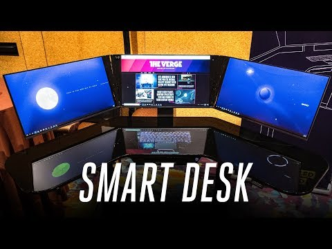 We want this absurd smart desk with a built-in PC
