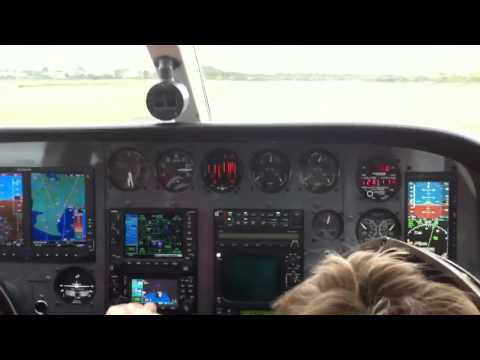 Cessna 340 takeoff
