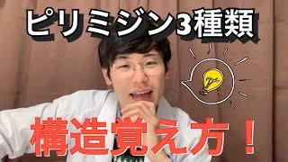 覚え方動画① ピリミジン系(ウラシル、シトシン、チミン)の構造!