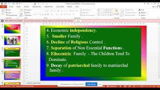 THE MODERN FAMILY- Features, Issues and Solutions |TNMGRMU |PSCON |Online Lecture  on 2 - 8 - 2021