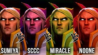 Miracle- vs Sumiya vs Sccc vs Noone - WHO IS THE BEST INVOKER in 7.20 Patch - Dota 2