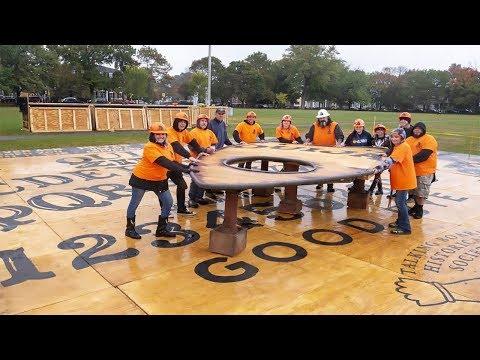 Unleashing OuijaZILLA - The World's Largest Ouija Board