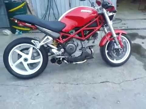 ducati s2r 1000 custom exhaust youtube. Black Bedroom Furniture Sets. Home Design Ideas