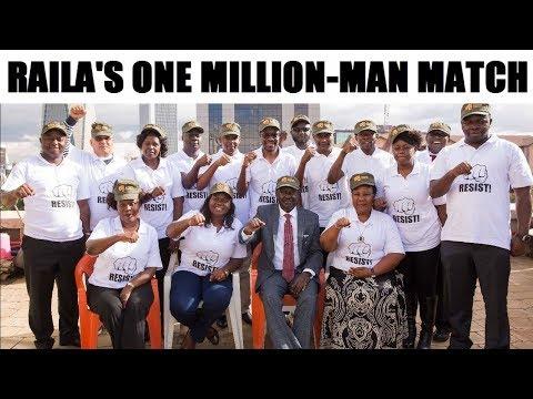 Raila Odinga to Lead a One Million-Man Match iN Nairobi's CBD to Topple Uhuru