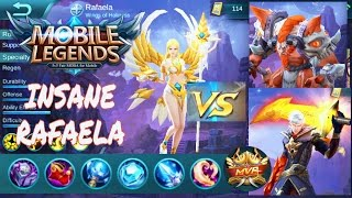 MOBILE LEGENDS INSANE RAFAELA VS MINOTAUR AND ALUCARD BLOOPERS MVP SOLO HIGH RANKED GAMEPLAY #3 | DANDYMP
