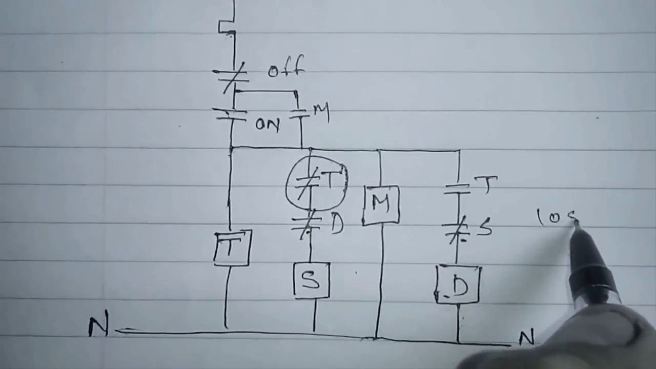 Star Delta Starter Motor Control With Circuit Diagram In Hindi Part Power Wiring Of 1 720p
