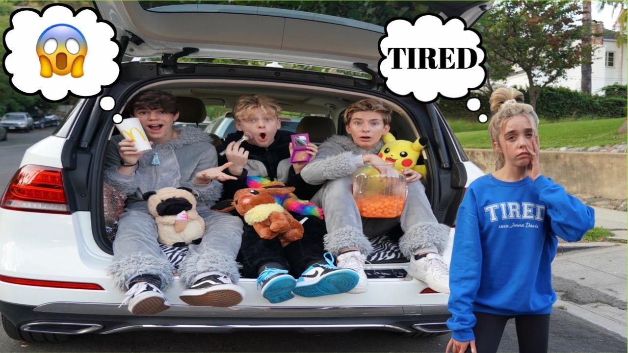 24 HOUR OVERNIGHT CHALLENGE IN MY CAR | Jenna Davis