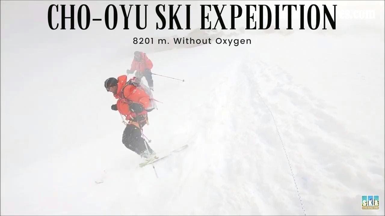 Climbing Cho Oyu without O2 but with ski