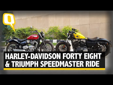 Triumph Bonneville Speedmaster And Harley-Davidson Forty Eight Face Off