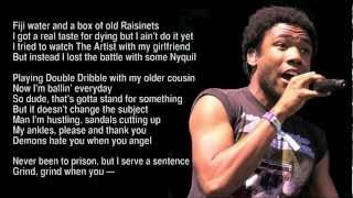 Childish Gambino - Bronchitis (with Lyrics) HD