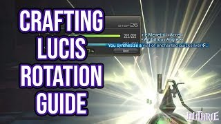 FFXIV 2.5 0494 Crafting Lucis Rotation Guide