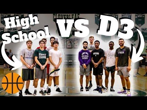 High School Basketball Team VS D3 College TEAM?! (Part 2)