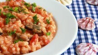 Рис с мидиями в томатно сливочном соусе