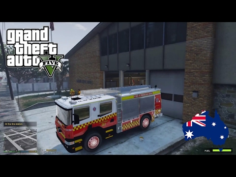 GTA 5 - Emergency 000 - Davis Firefighter Patrol - Strip Club Inferno!