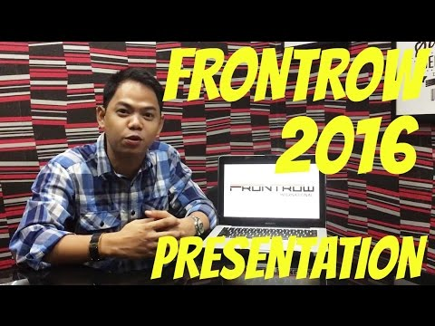 Frontrow 2016 Presentation by David John Papa