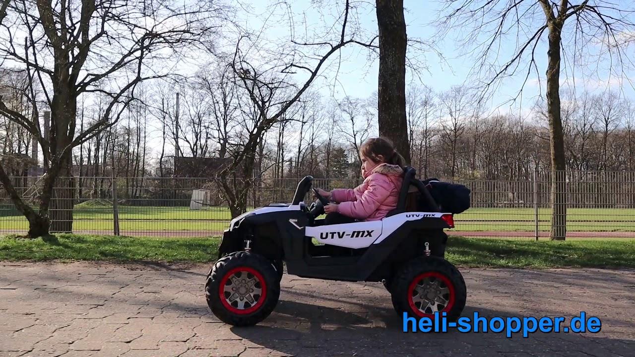 Kinder Elektro Auto Buggy UTV Federung Kinderfahrzeug Auto BT MP3