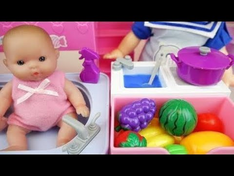 NEW Baby doli house kitchen and bath Baby Doll toys play HD - YouTube