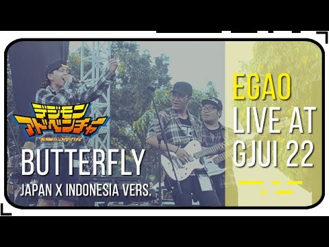 [FULL-BAND] Butterfly (Digimon OST.) Japan x Indonesia Version | Live at GJUI 22