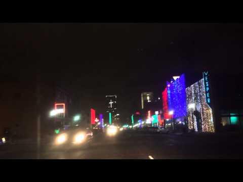 Christmas lights Oklahoma City Broadway Avenue Automobile Alley