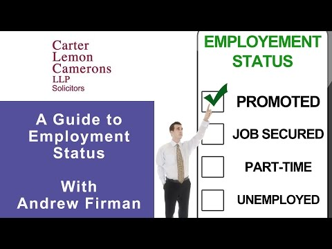 A Guide to Employment Status with Andrew Firman: CarterCamerons.com