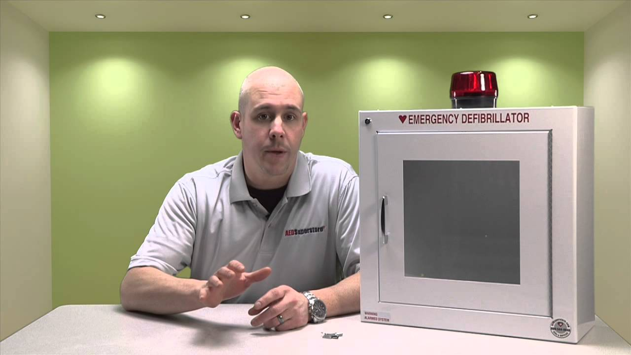 AED Cabinet Alarms - YouTube