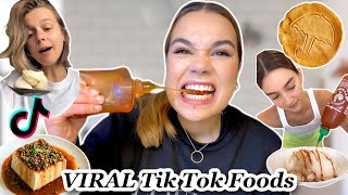 I tried VIRAL f๐ods from Tik Tok (ft Squid Game Dalgona Candy challenge!)