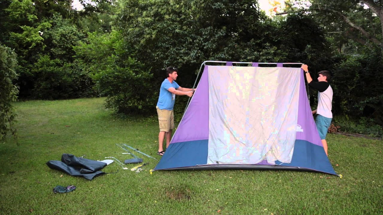 American Camper 2 room Tent setup! - YouTube