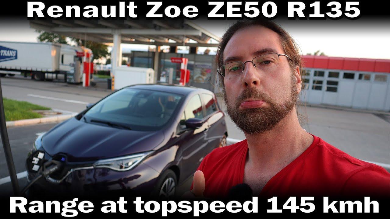 Renault Zoe ZE50 R135 - Range at Topspeed 145kmh