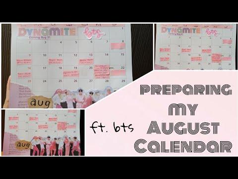 my-august-calendar-setup-ft.-bts-dynamite❤️❤️//-late-upload