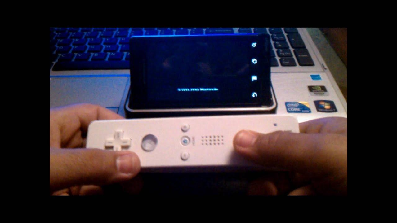 Nintendo Wiimote On ANDROID - YouTube