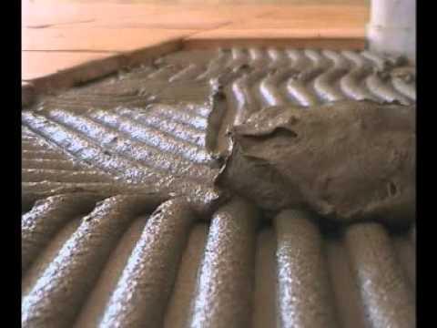Pose la colle de carreaux bruts en terre cuite barthe for Pose de ba13 colle
