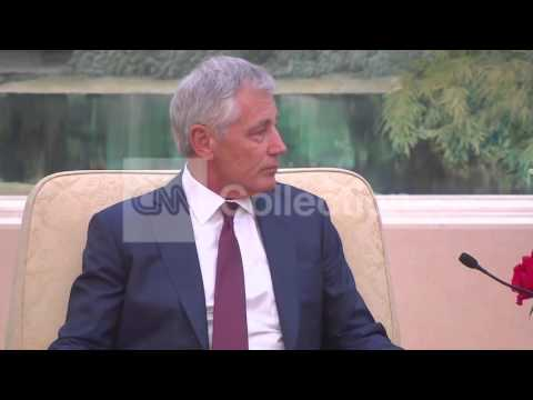 CHINA:HAGEL MEETS WITH PRESIDENT XI JINPING
