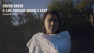 Download Color Grade C LOG Footage QUICK & EASY (Canon EOS R