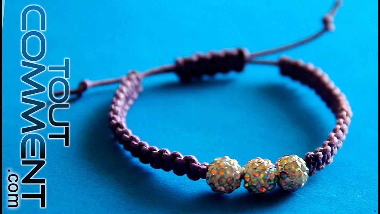 Sehr Faire un bracelet avec des fils et des perles - YouTube VN46