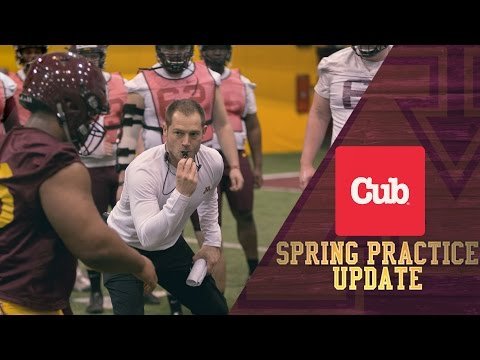 Coach Fleck Mic'd Up: 2017 Gopher Football Spring Practice #1