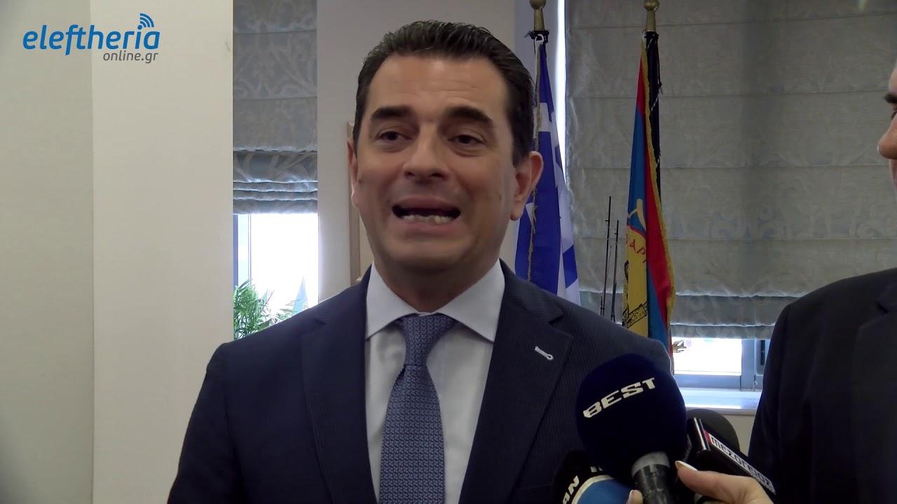 Ο υφυπουργός Αγροτικής Ανάπτυξης Κ. Σκρέκας στο δημαρχείο Καλαμάτας