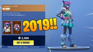 *NEW* DJ BOP SKIN (1st JANUARY 2019 Item Shop) Fortnite Battle Royale